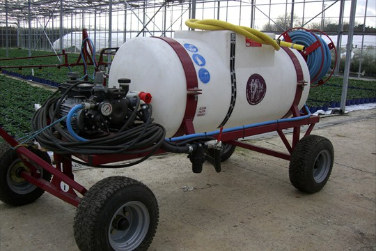 400L boom sprayer at the Haven