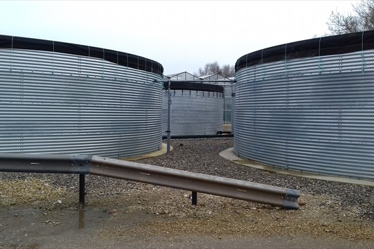 Walberton's water tanks hold up to 750,000 litres of rainwater harvested from glasshouse roof