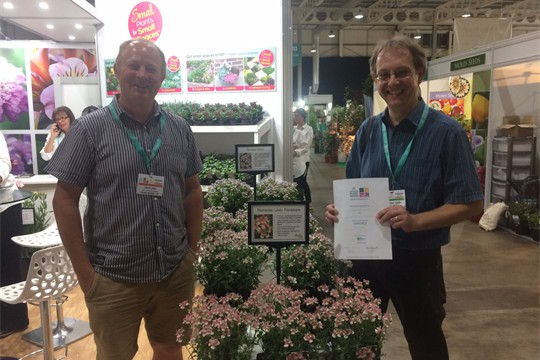 Steve Carter and Steve James with an HTA Award at the National Plant Show