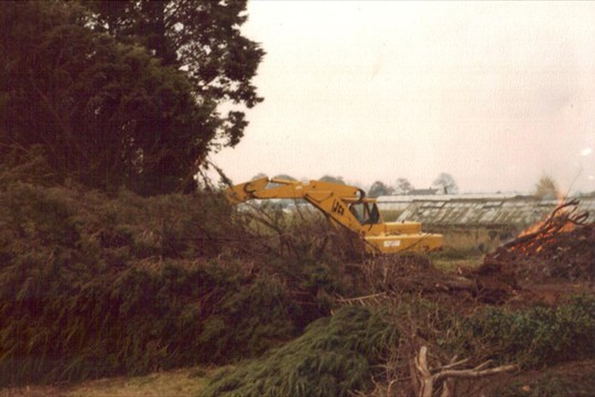 Preparing ground bought as Todhurst Nursery, 1979