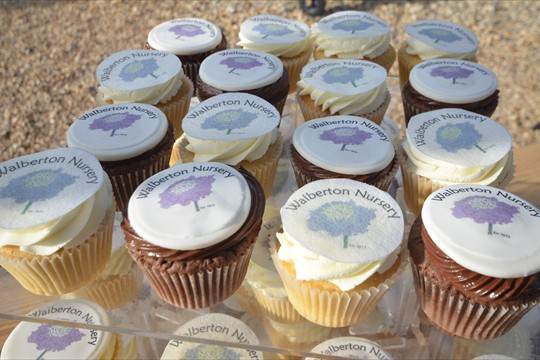 Custom-made cupcakes to celebrate our 40th Anniversary Year