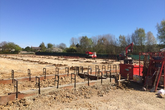 Foundation work on new glass build 2015
