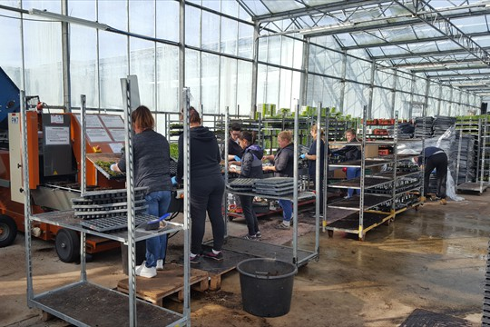 Fixed machines in central locations at Binsted Lake Lane enable quick and efficient potting