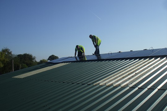 Solar panels provide Walberton with 16% of its energy