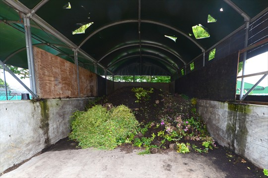 Unwanted plant material is composted by a local company