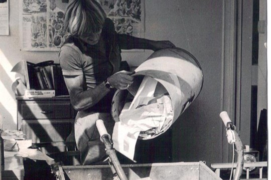 Old style office cleaning, 1975